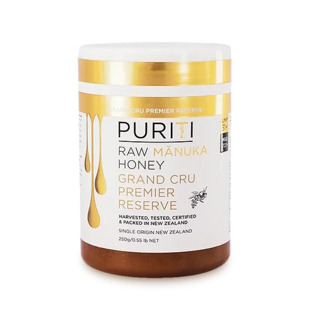 Miere de Manuka Raw Premium Puriti, Monoflorala, Certificata Grand Cru PREMIER RESERVE UMF®31+ (MGO 1722+), 250gr