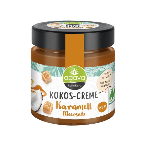 Crema tartinabila din Cocos cu Caramel Sarat, fara zahar, fara gluten, Agava, 200 gr, Eco