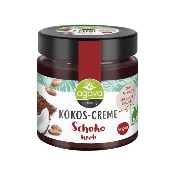Crema tartinabila din Cocos cu Ciocolata Fondanta, fara zahar, fara gluten, Agava, 200 gr, Eco