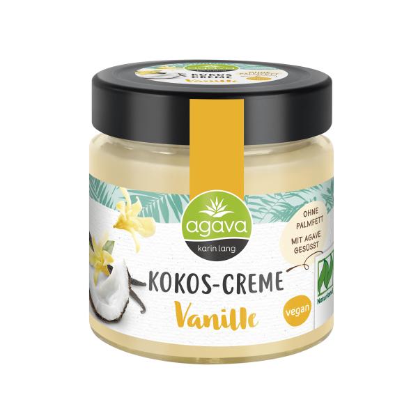 Crema tartinabila din Cocos cu Vanilie, fara zahar, fara gluten, Agava, 200 gr, Eco