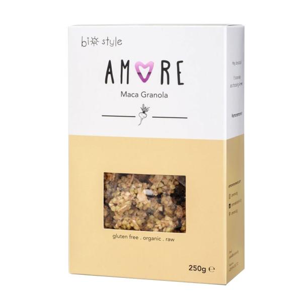 Cereale Granola Raw Vegana cu Maca, Fara Gluten, Amore-Biostyle, Eco, 250 gr
