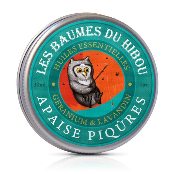 Unt Balsam pentru Tratarea Intepaturilor de Insecte 100% Natural, Les Baumes Du Hibou, Eco, 30 ml