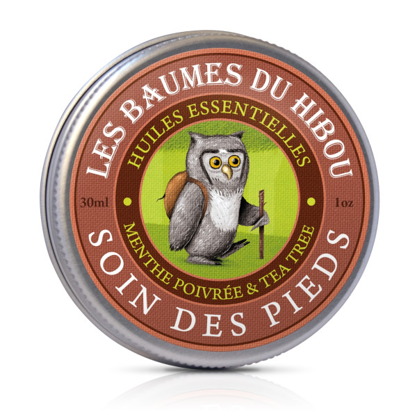 Unt Masaj pentru Ingrijirea Picioarelor 100% Natural, Les Baumes Du Hibou, Eco, 30 ml