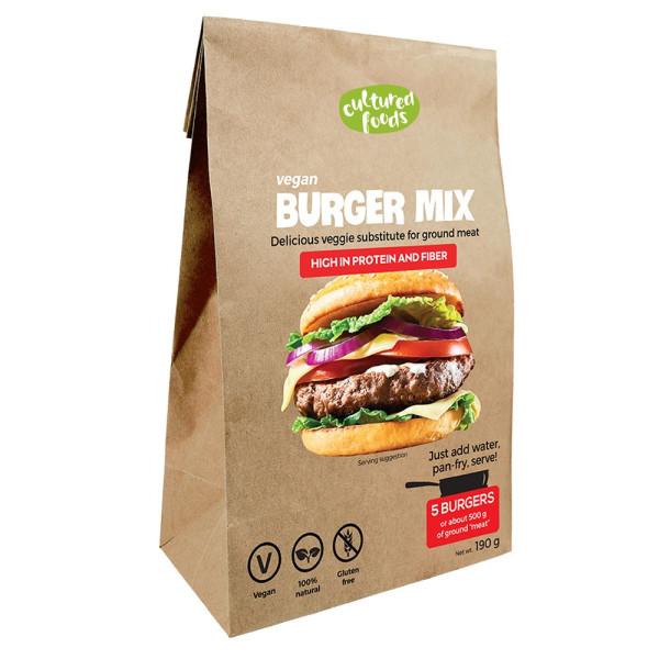 Inlocuitor Carne Tocata pentru Burgeri 100% Vegetal, Fara Gluten, Fara Lactoza, Cultured Foods, 200 gr
