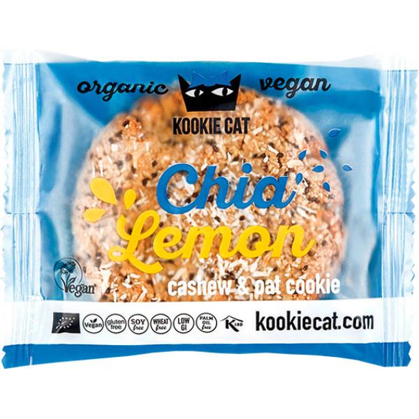 Cookie cu Chia si Lamaie, fara Gluten, Kookie Cat, Eco, 50 gr