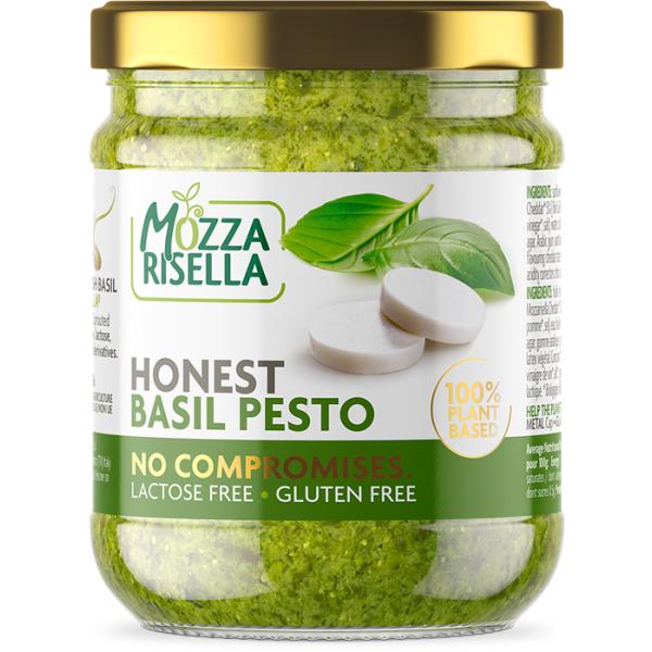 Sos Pesto cu Busuioc si Mozzarisella, Fara gluten, Fara Lactoza, Honest Pesto, Eco, 135 gr