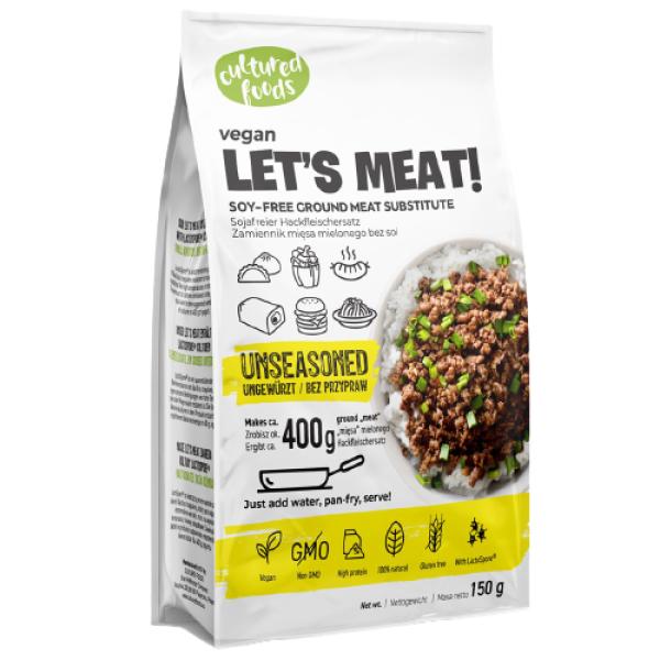 Inlocuitor Carne Tocata din Mazare Necondimentat, 100% Vegetal, Fara Gluten, Fara Lactoza, Cultured Foods, 150 gr