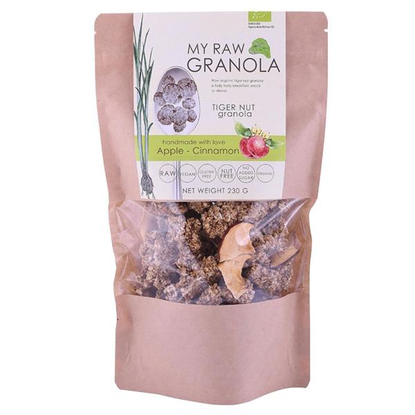 Cereale Granola Raw din Tigernut cu Mar si Scortisoara, Fara Gluten, My Raw Granola, Eco, 230 gr