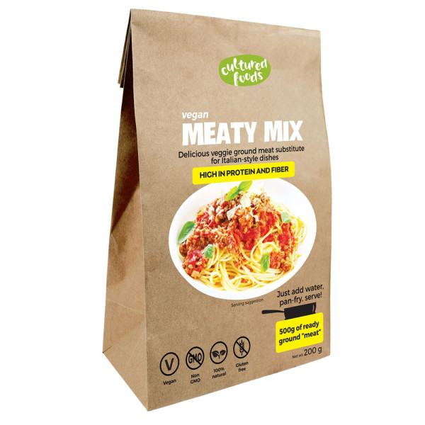 Inlocuitor pentru Carne Tocata 100% Vegetal, Fara Gluten, Fara Lactoza, Cultured Foods, 200 gr