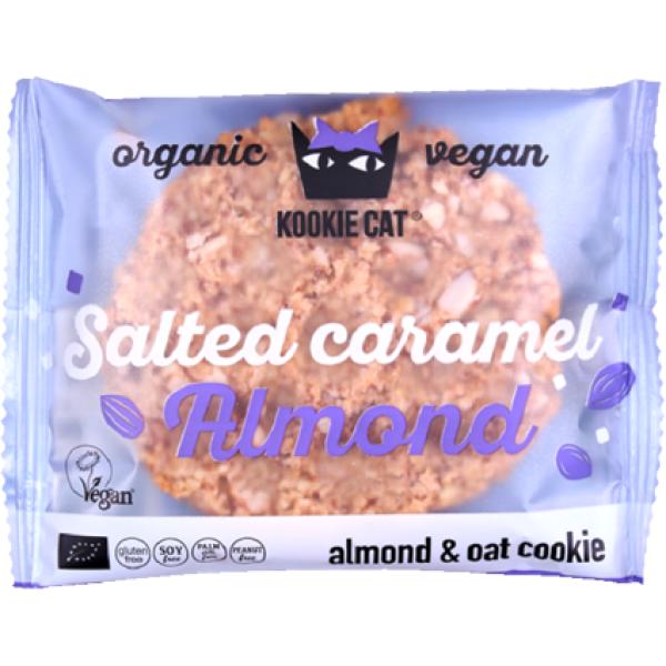 Cookie cu Migdale si Caramel Sarat, fara Gluten, Kookie Cat, Eco, 50 gr
