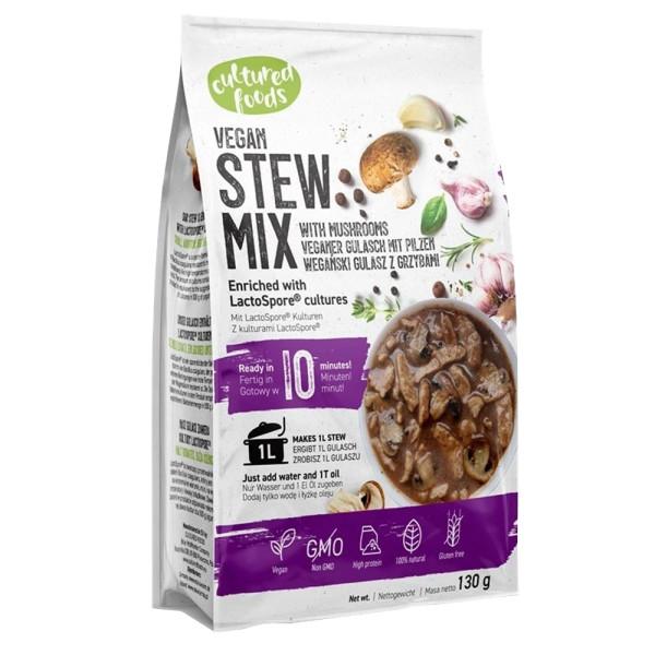 Mix pentru Gulas cu Ciuperci 100% de origine naturala, Fara gluten, Fara Lactoza, Cultured Foods, 130 gr