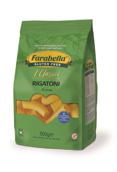 Paste fara Gluten Rigatoni Farabella, 500 gr