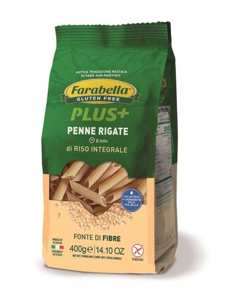 Paste fara Gluten Penne Rigate din Orez Integral, Farabella, 400 gr