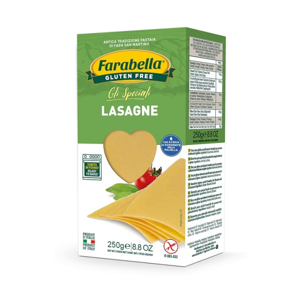 Paste fara Gluten Lasagna Farabella, 250 gr