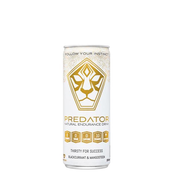 Bautura Energizanta Naturala cu Aroma de Coacaze Negre si Mangustine, Predator, 250 ml