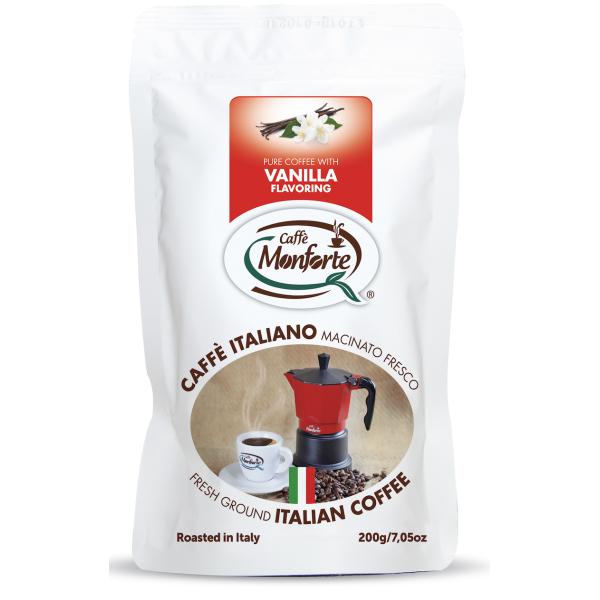 Cafea Macinata cu Aroma de Vanilie, Monforte, 200 gr