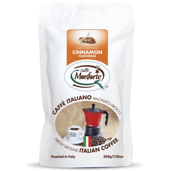 Cafea Macinata cu Aroma de Scortisoara, Monforte, 200 gr