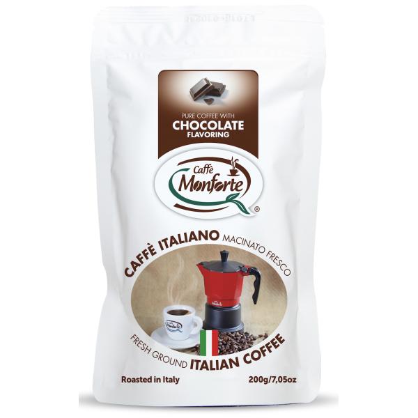 Cafea Macinata cu Aroma de Ciocolata, Monforte, 200 gr