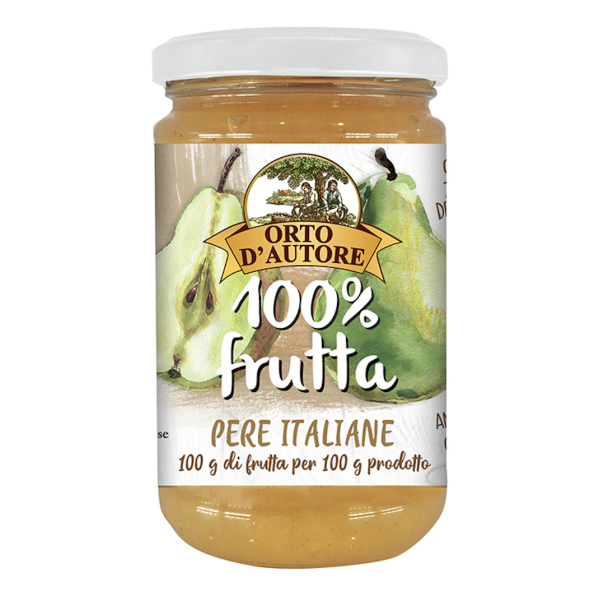 Dulceata de Pere 100% din Fructe, fara Zahar, Orto D'Autore, 340 gr