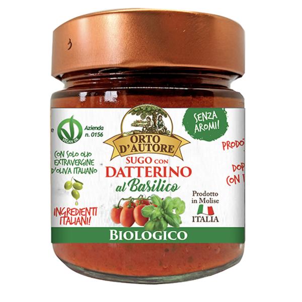 Sos de Rosii Datterino cu Busuioc pentru Paste, Eco, Orto D'Autore, 180 gr
