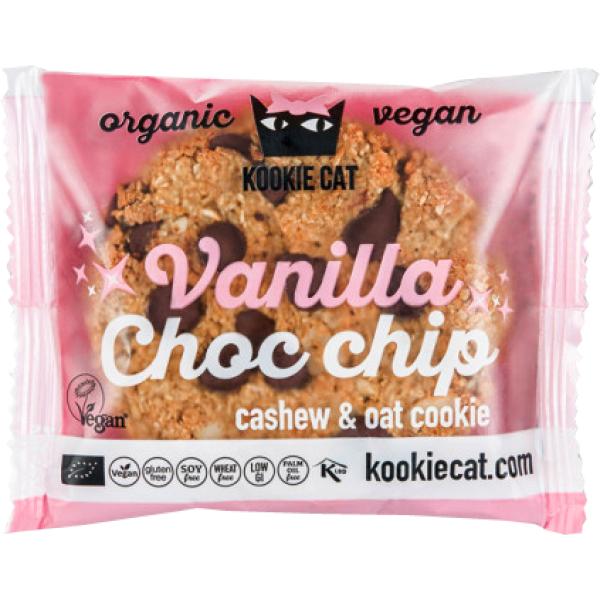 Cookie cu Vanilie si Ciocolata, fara Gluten, Kookie Cat, Eco, 50 gr