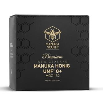 Miere de Manuka Premium Manuka South ®, UMF®8+ (MGO 182+), 250gr