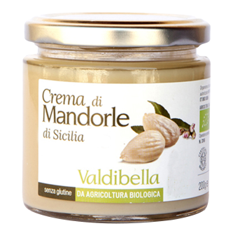 Crema din Migdale Albe Siciliene, Fara Gluten, Fara Lactoza, Valdibella, Eco, 200 gr